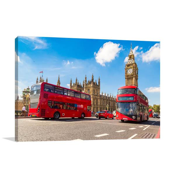 Double-decker Bus London Wall Art Print