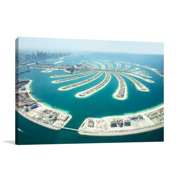 Dubai Art Print Palm Jumeirah Wall Artwork