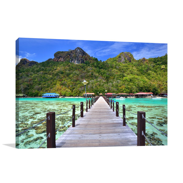 Dulang Island Borneo Print Photo Art