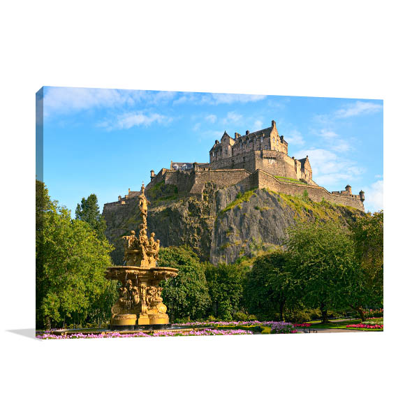 Edinburgh Castle Art Print Print Artwork