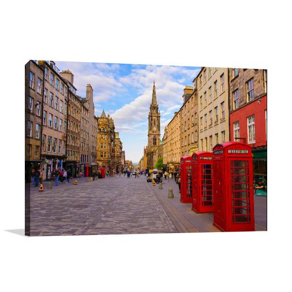 Edinburgh UK Art Print Street View Picture Wall