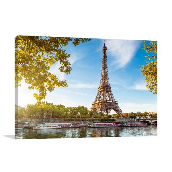 Eiffel Tower Art Print Paris Artwork Canvas