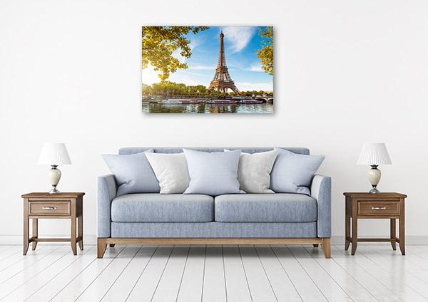 Eiffel Tower Art Print Paris Wall Canvas