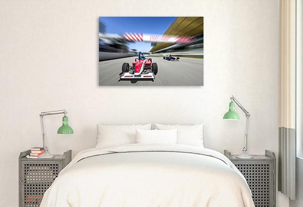 F1 Race Photo Print Art Canvas