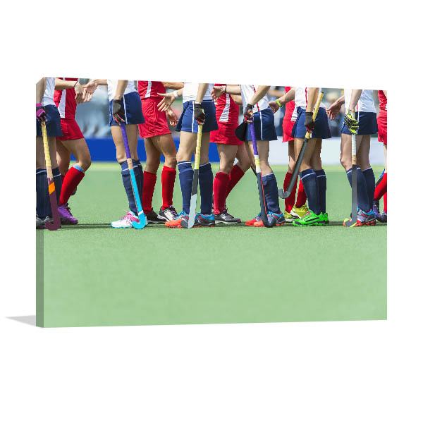 Field Hockey Players Picture Wall