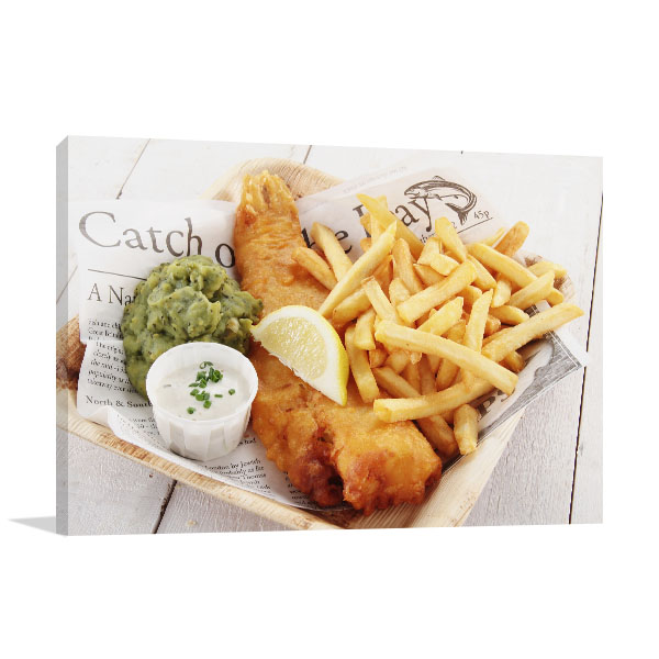 Fish and Chips Canvas Art