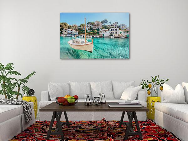 Floating Boat Mallorca Photo Art