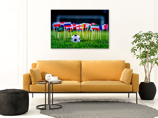 Football with International Flags Photo Print