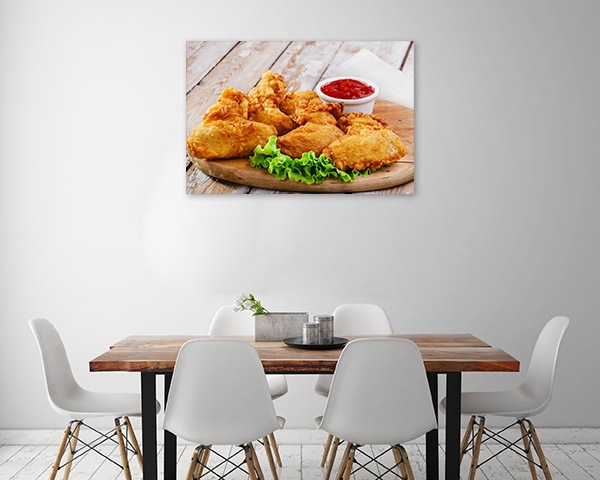 Fried Chicken with Ketchup Artwork Photo