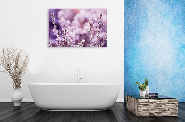 Frozen Heather Flower Canvas Art