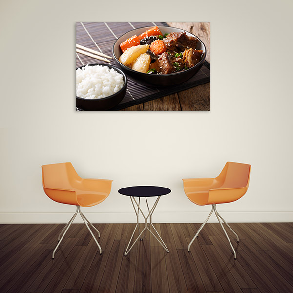 Galbi and Rice Picture Print