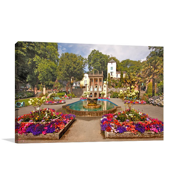 Garden in Portmeirion UK Canvas Photo Print