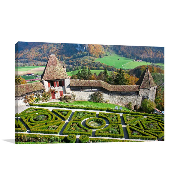 Garden of Gruyere Castle Print Artwork