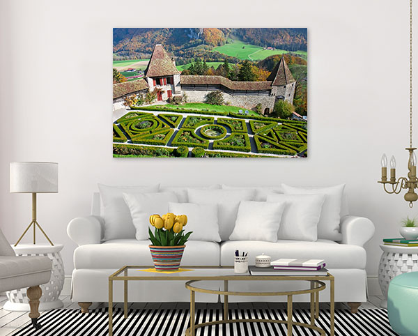 Garden of Gruyere Castle Canvas Prints