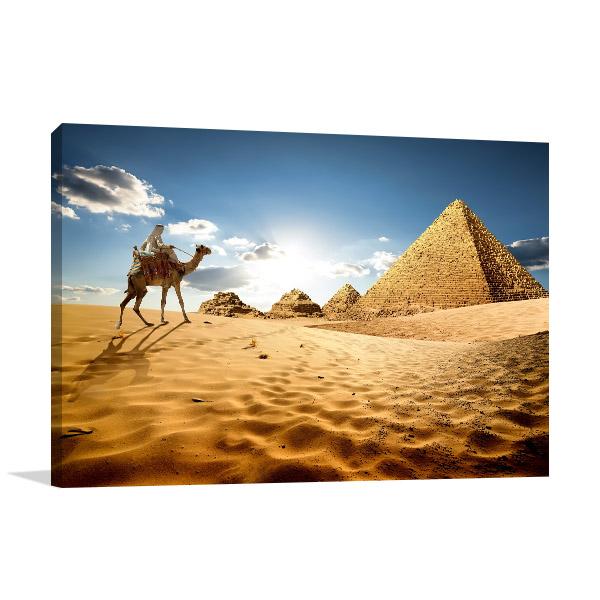 Giza Art Print Great Pyramids Canvas Wall