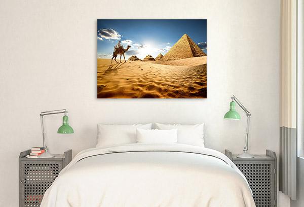 Giza Art Print Great Pyramids Artwork Picture