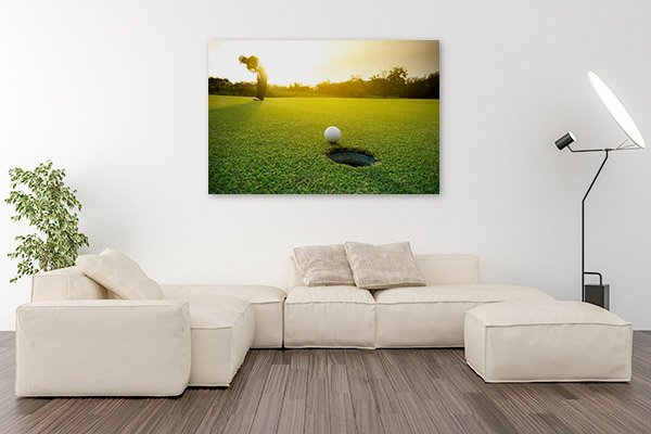 Golf Ball Art Print on Grass Artwork