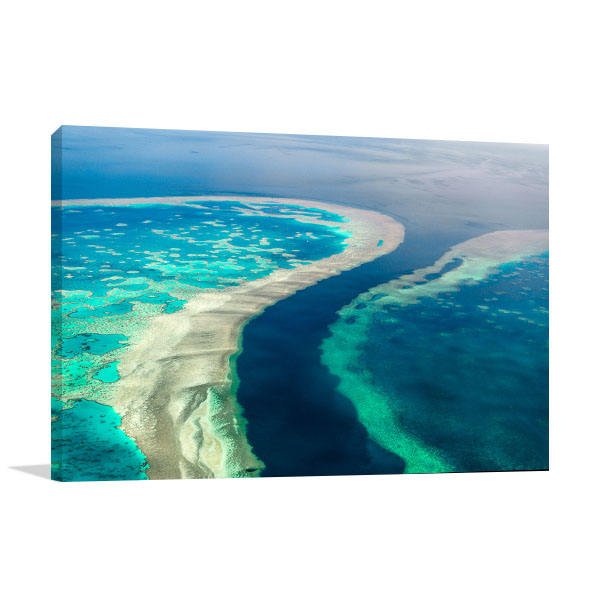 Great Barrier Reef Wall Print Aerial View Photo Wall Arts