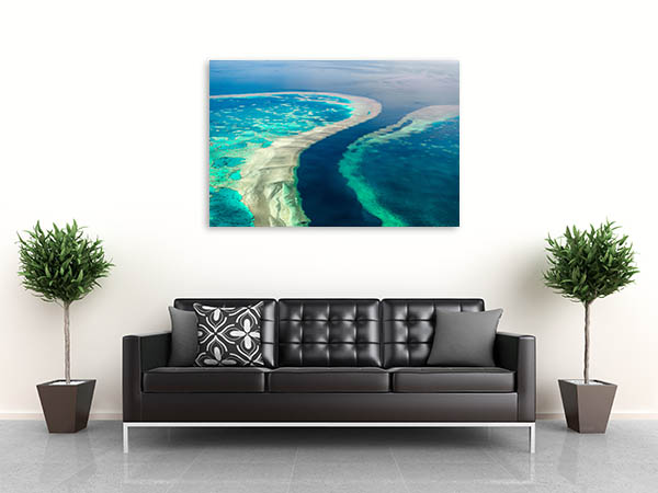 Great Barrier Reef Wall Print Aerial View Print Art Canvas