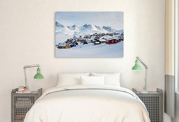 Greenland Art Print Tasiilaq Canvas Artwork