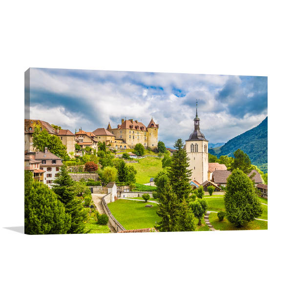 Gruyere Castle Canvas Art