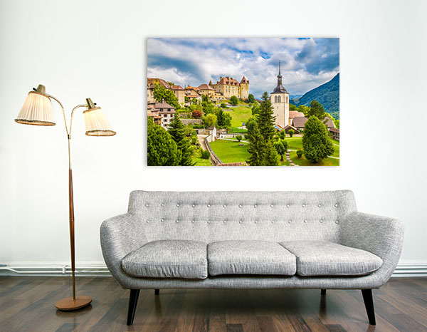 Gruyere Castle Print Art Canvas
