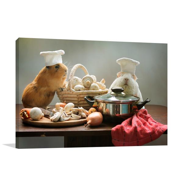Guinea Pig Chefs Canvas Art Prints