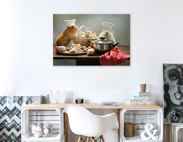 Guinea Pig Chefs Wall Art Photo Print