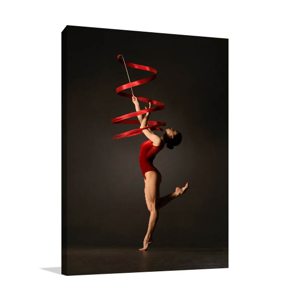 Gymnast Ribbon Canvas Photo Print