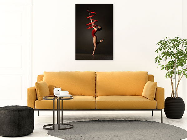 Gymnast Ribbon Photo Wall Arts