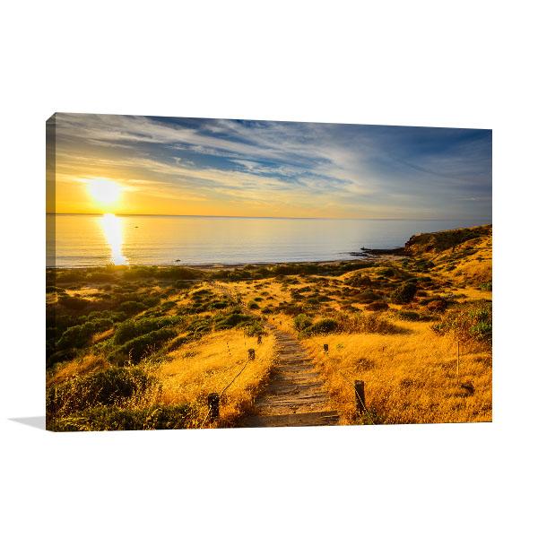 Hallett Cove Art Print Boardwalk Sunset Canvas Wall Art