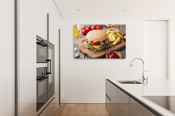 Hamburger and Fries Wall Art