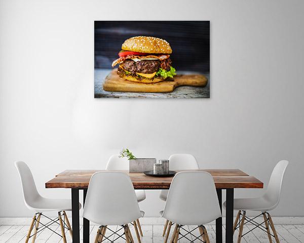Hamburger Prints Canvas Decor