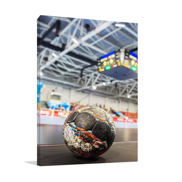 Handball with Scoreboard Canvas Art