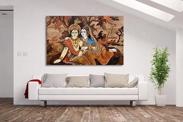 Ready To Hang Canvas For Homes | Hindu Gods Wall Art Print