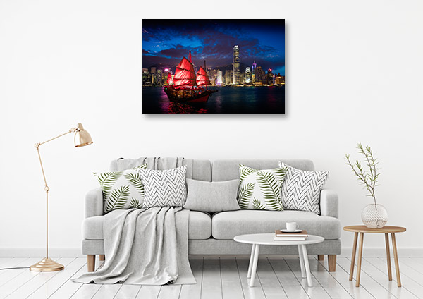 Hong Kong Art Print Victoria Harbour Wall Photo