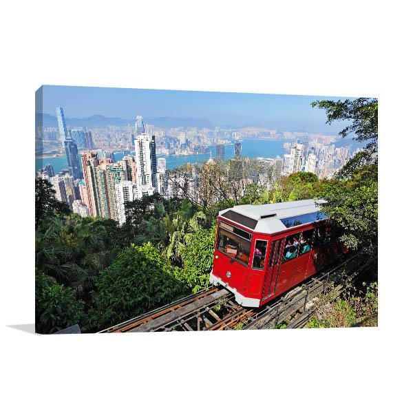 Hong Kong Art Print Victoria Peak Tram Photo Artwork