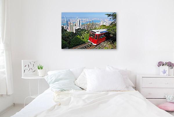 Hong Kong Art Print Victoria Peak Tram Wall Artwork