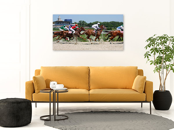 Horse Race Art Print Competition Canvas Photo