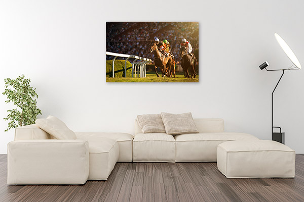 Horse Race Front View Art Picture