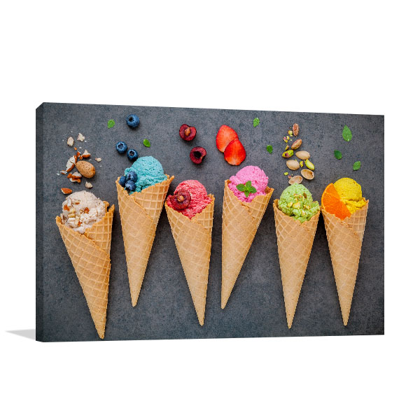 Ice Cream on Cone Artwork Picture