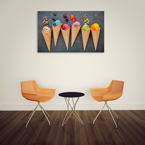 Ice Cream on Cone Wall Artwork