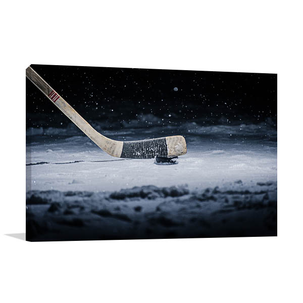 Ice Hockey Stick Art Photo