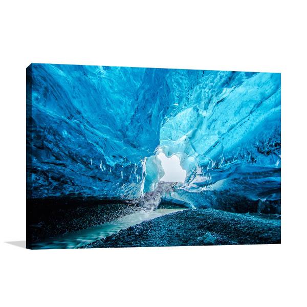 Iceland Art Print Blue Crystal Cave Wall Artwork