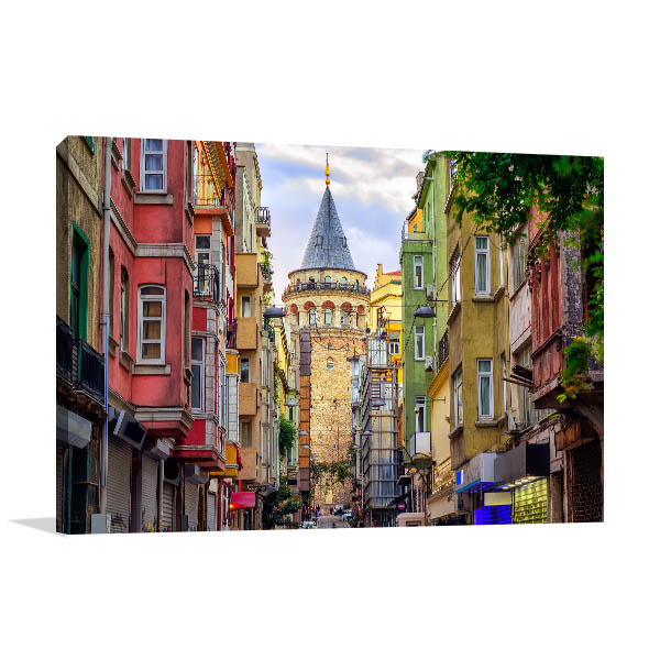Istanbul Art Print Galata Tower Picture Canvas