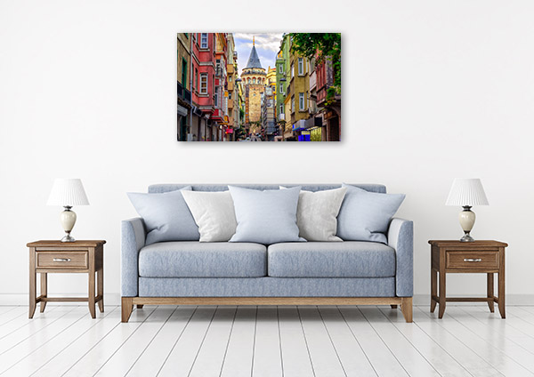 Istanbul Art Print Galata Tower Artwork Picture