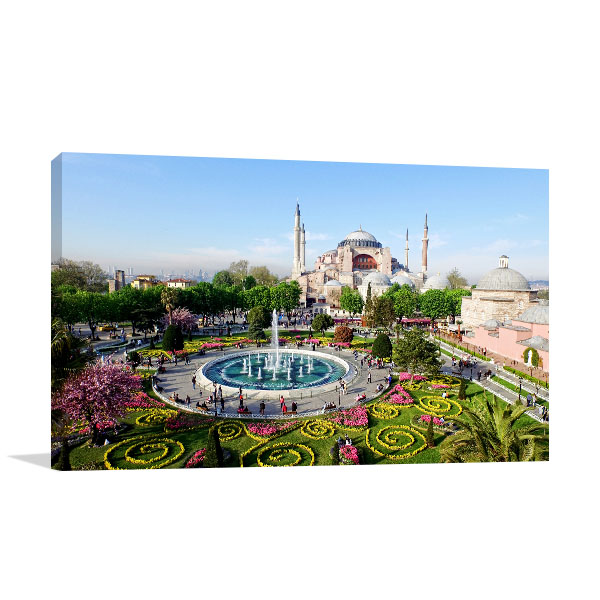 Istanbul Art Print Hagia Sophia Canvas Photo