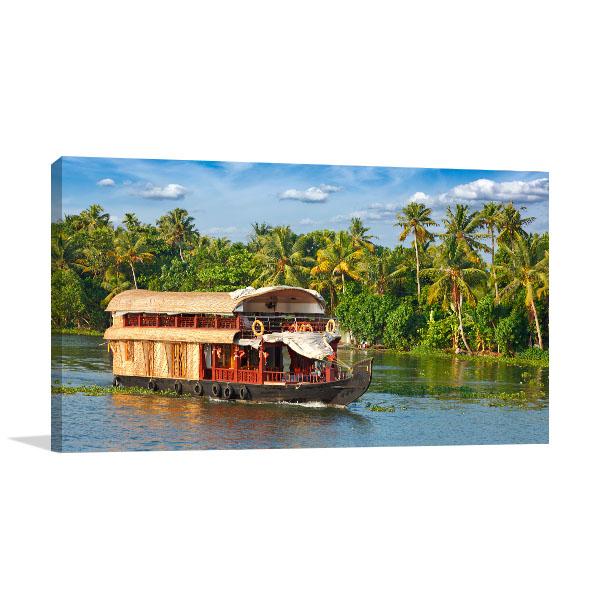 Kerala Boathouse Wall Art Photo Print