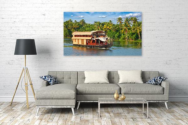 Kerala Boathouse Artwork