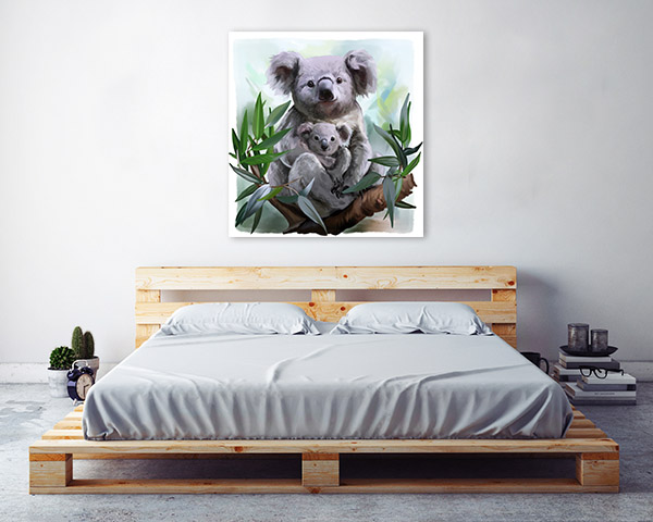Koala and Baby Watercolour Artwork Wall